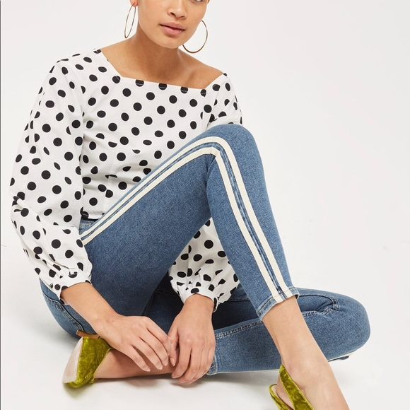 e2d376577c424a NWOT Topshop Jamie side-stripe ankle jeans, W24L30.  M_5b60d2bfd365be398a720e42